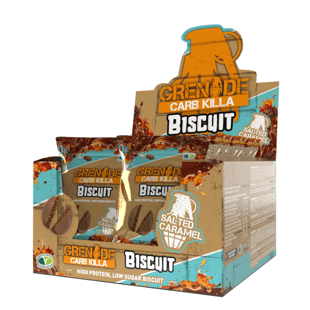 Grenade Carb Killa Protein Biscuit Salted Caramel, Protein Cookies, Grenade, Protein Package Protein Package Pick and Mix Protein UK