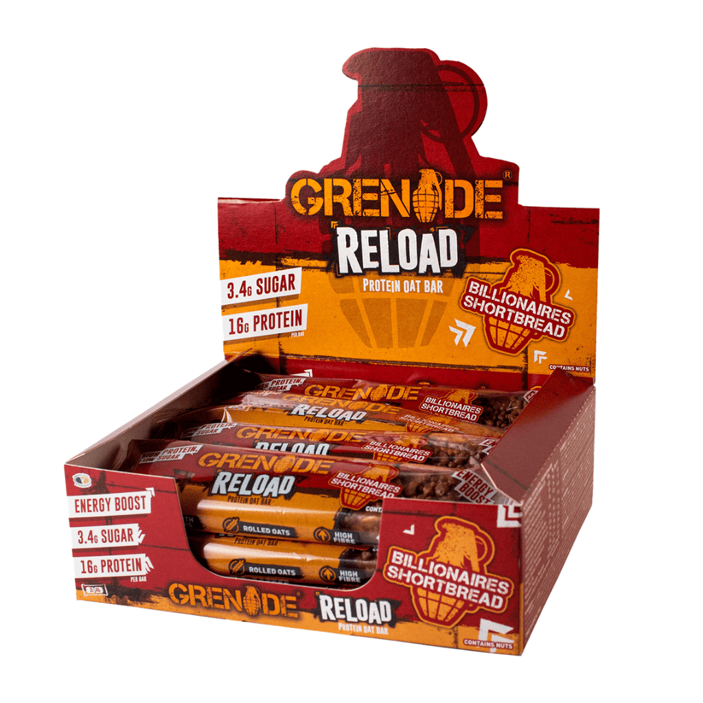 Grenade Reload Protein Oat Bar Billionaires Shortbread, Protein Bars, Grenade, Protein Package Protein Package Pick and Mix Protein UK