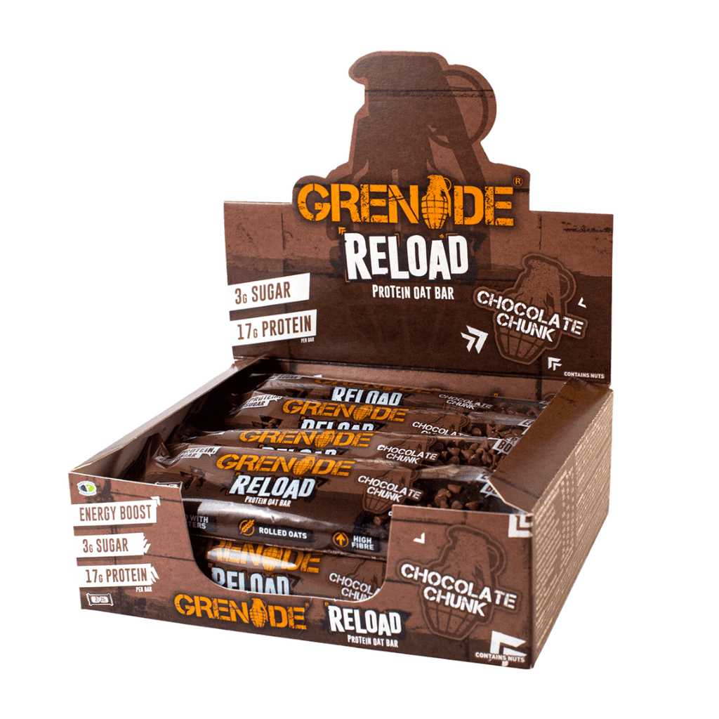 Grenade Reload Protein Oat Bar Chocolate Chunk, Protein Bars, Grenade, Protein Package Protein Package Pick and Mix Protein UK