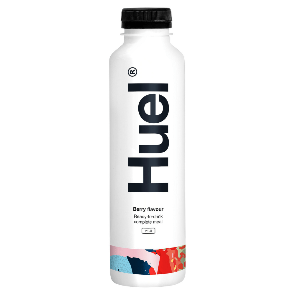 Berry Flavoured Ready-To-Drink Complete Meal Protein Shakes by Huel 500ml Bottles