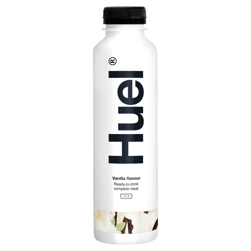 Huel's Vanilla Flavoured Ready-To-Drink Complete Meal Replacement Shakes 550ml Bottles - Protein Package UK