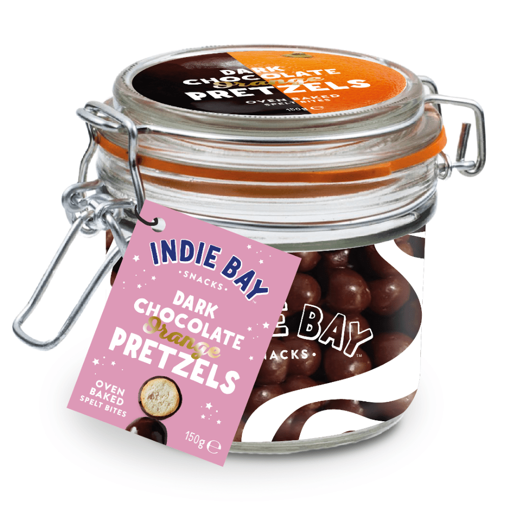 Indie Bay Snacks Protein Pretzel Bites Christmas Chocolate Orange