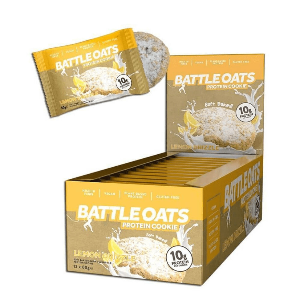 Battle Oats Protein Cookie Lemon Drizzle, Protein Cookies, Battle Snacks, Protein Package Protein Package Pick and Mix Protein UK