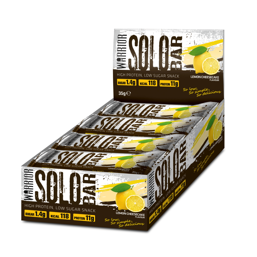 Warrior Solo Protein Bar Lemon Cheesecake, Protein Bars, Warrior, Protein Package Protein Package Pick and Mix Protein UK