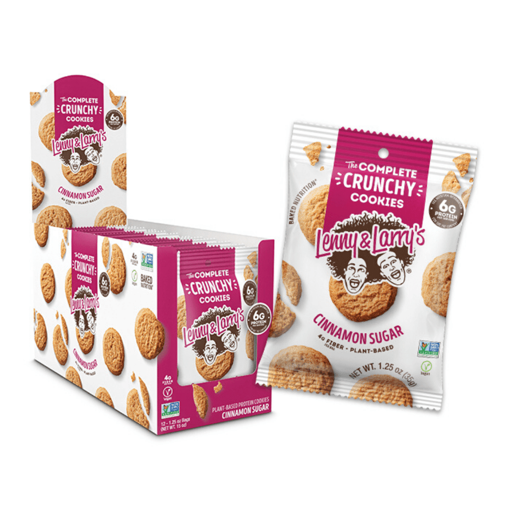 Lenny & Larry's Complete Crunchy Cookies Cinnamon Sugar, Protein Cookies, Lenny & Larry's, Protein Package, Pick and Mix Protein UK