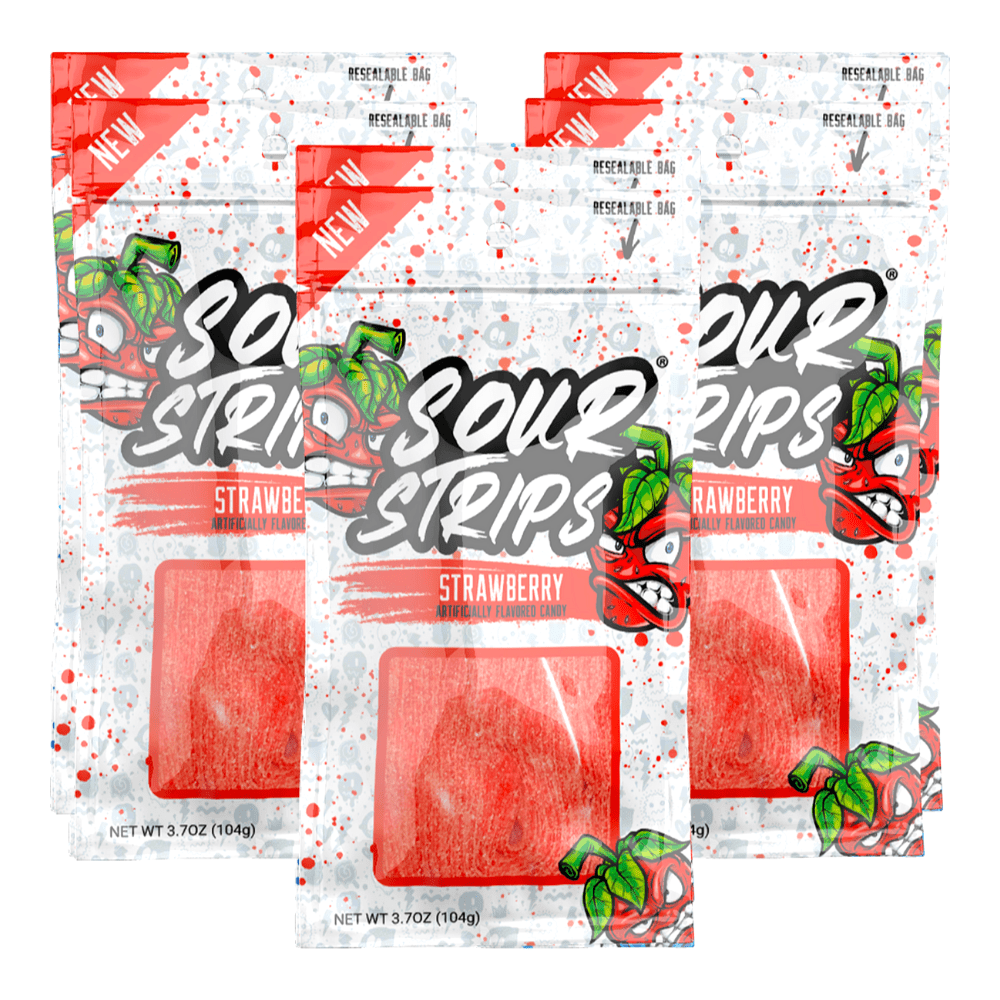 Sour Strips Low Calorie Candy Strawberry