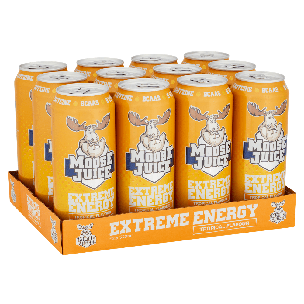 Tropical Flavour Muscle Moose Extreme Energy Drinks Box of 12