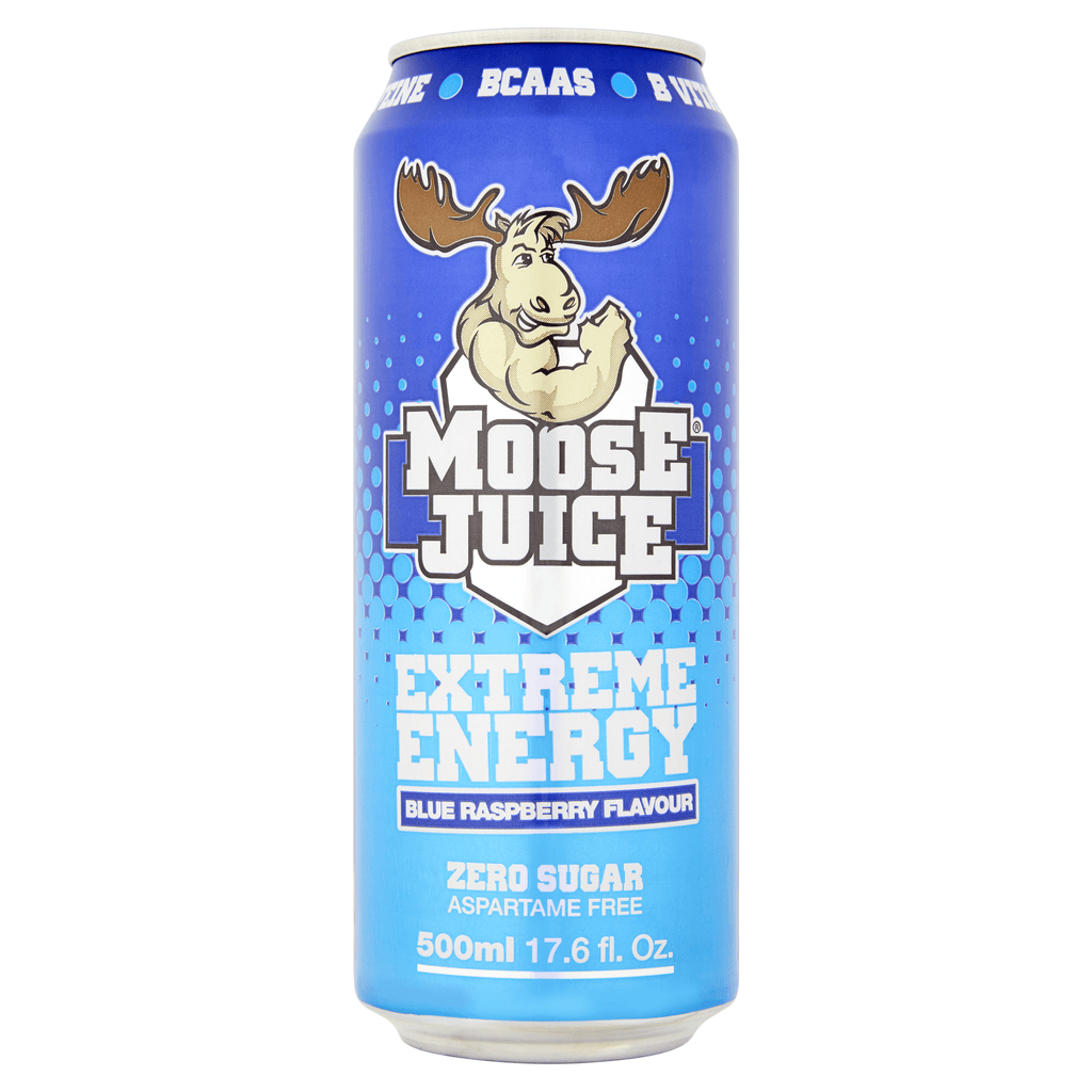 Muscle Moose Moose Juice Blue Raspberry, Energy Drinks, Muscle Moose, Protein Package Protein Package Pick and Mix Protein UK