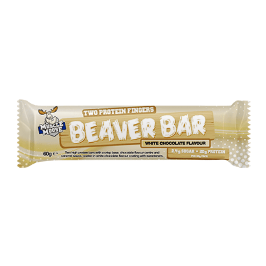 Muscle Moose Protein Beaver Bar White Chocolate, Protein Bars, Muscle Moose, Protein Package Protein Package Pick and Mix Protein UK