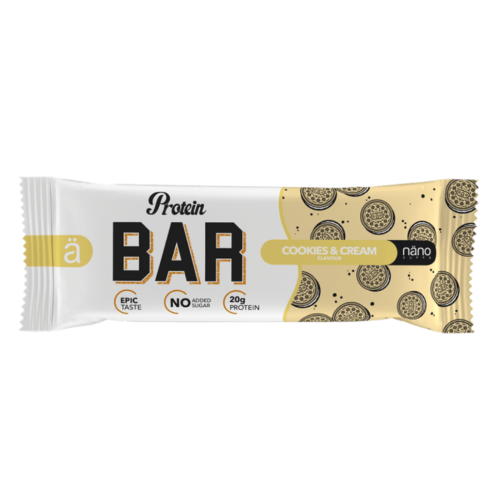 Nano ä Protein Bar Cookies & Cream, Protein Bars, Nano ä, Protein Package Protein Package Pick and Mix Protein UK