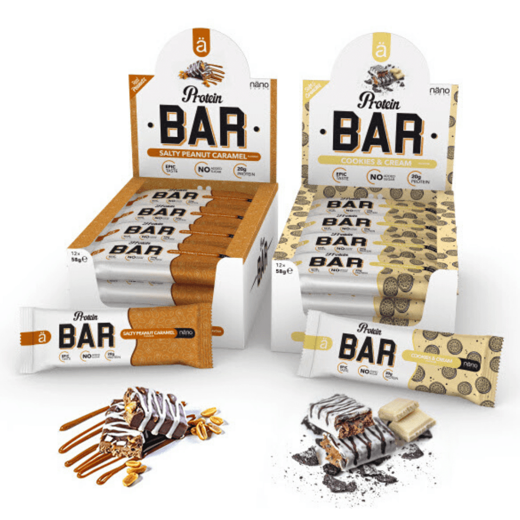 Nano Supps Protein Bar Cookies & Cream, Protein Bars, Nano Supps, Protein Package Protein Package Pick and Mix Protein UK
