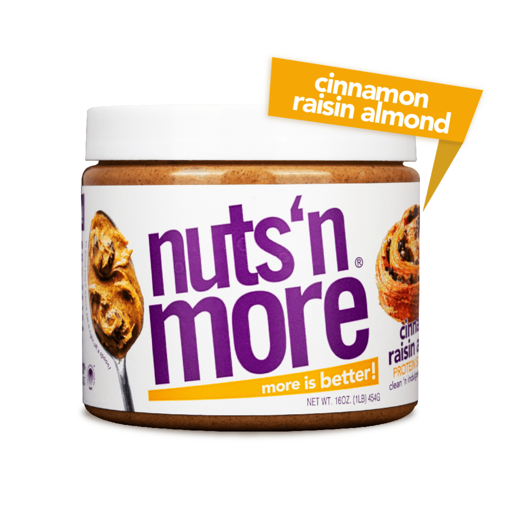 Cinnamon Raisin Nuts 'N More Superfood Almond Protein Nut Butters 454g