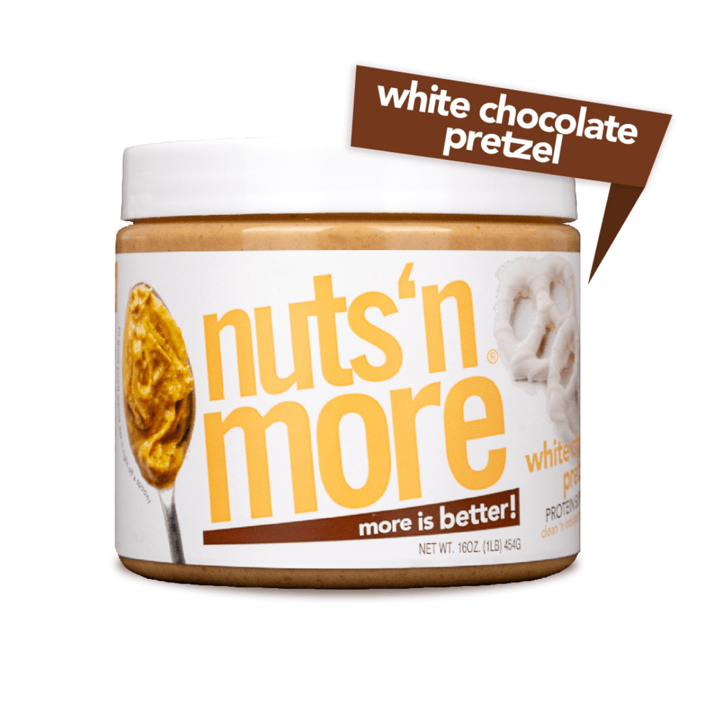 Nuts 'N More Peanut Butter Protein Spread White Chocolate Pretzel, Protein Spread, Nuts N' More, Protein Package, Pick and Mix Protein UK