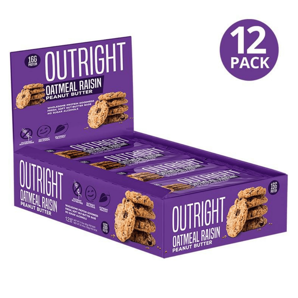 BOXES OF 12 - OATMEAL RAISIN MTS OUTRIGHT PROTEIN BARS UK PROTEIN PACKAGE