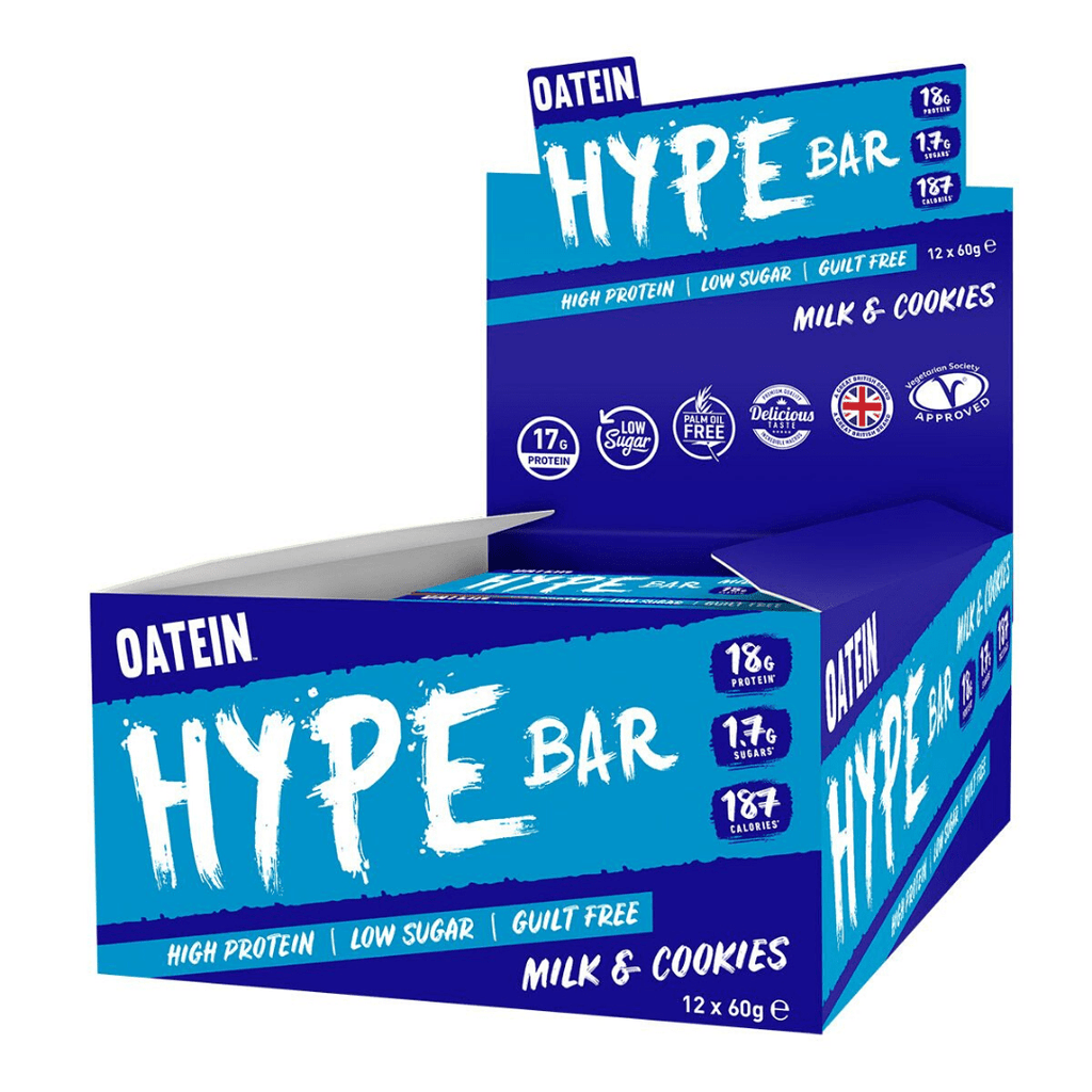 Oatein Protein Hype Bar Milk & Cookies, Protein Bars, Oatein, Protein Package Protein Package Pick and Mix Protein UK