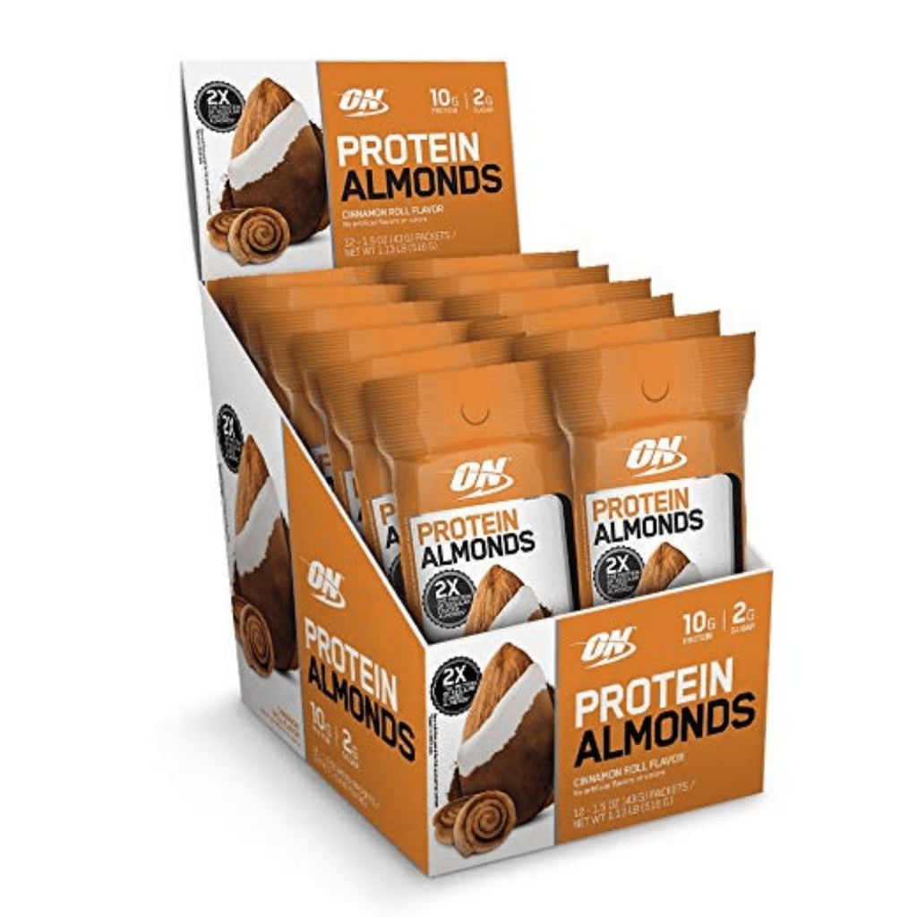 Optimum Nutrition Protein Almonds Cinnamon Roll, Protein Nuts, Optimum Nutrition, Protein Package Protein Package Pick and Mix Protein UK