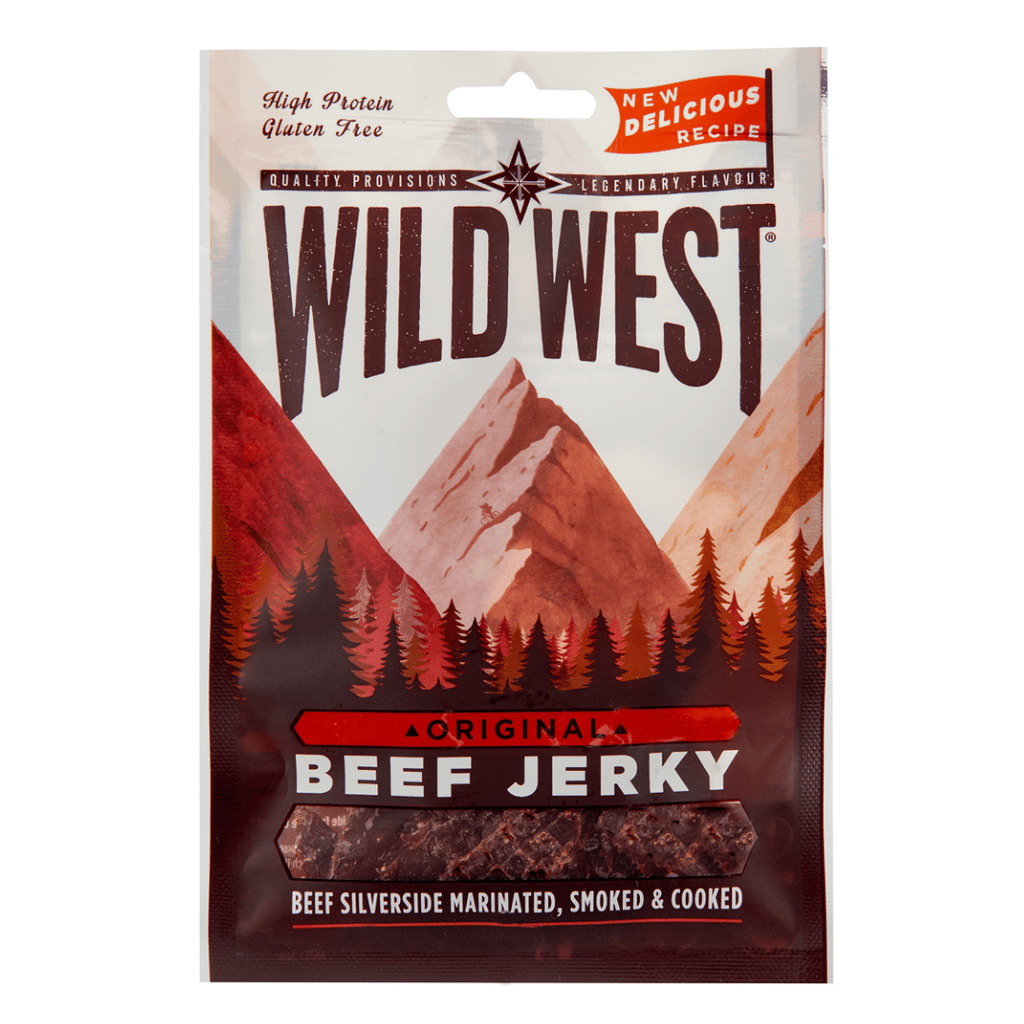 Wild West High Protein Beef Jerky Original, Protein Jerky, Wild West, Protein Package, Pick and Mix Protein UK