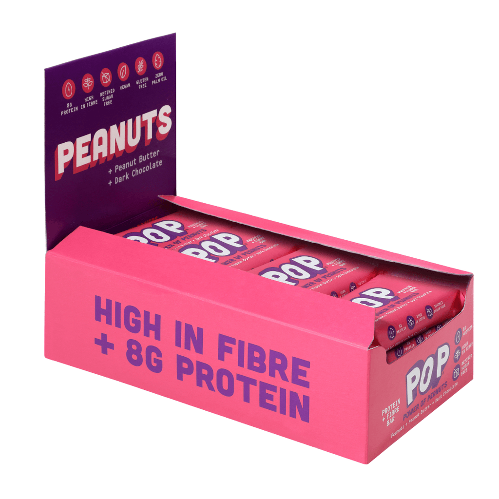 Power of Peanuts POP Protein Bar Dark Chocolate