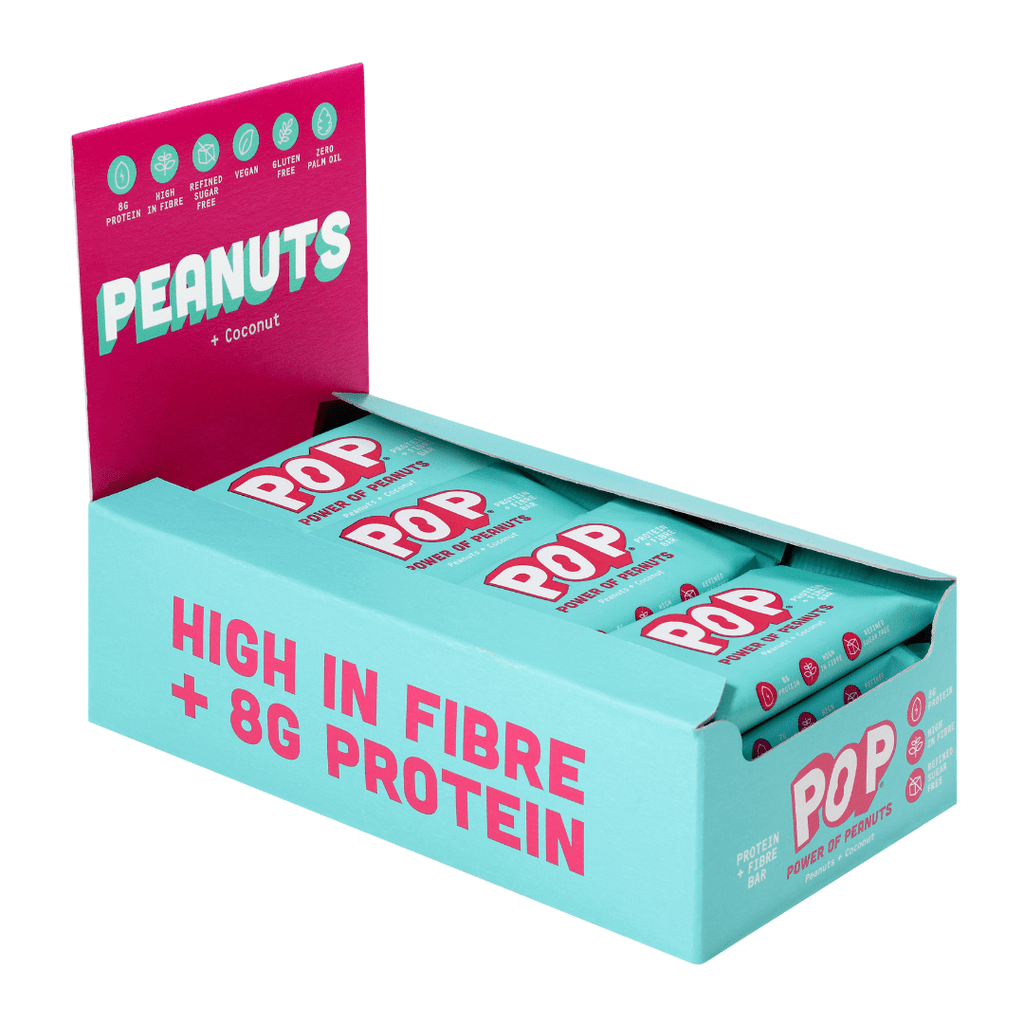 Power of Peanuts POP Protein Bar Box (16 Bars)