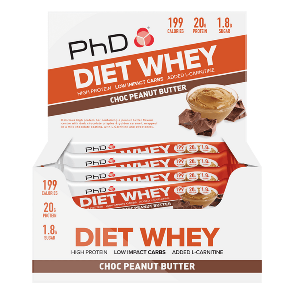 PhD Nutrition Diet Whey Protein Bar Box (12 Bars), Protein Bars, PhD Nutrition, Protein Package Protein Package Pick and Mix Protein UK