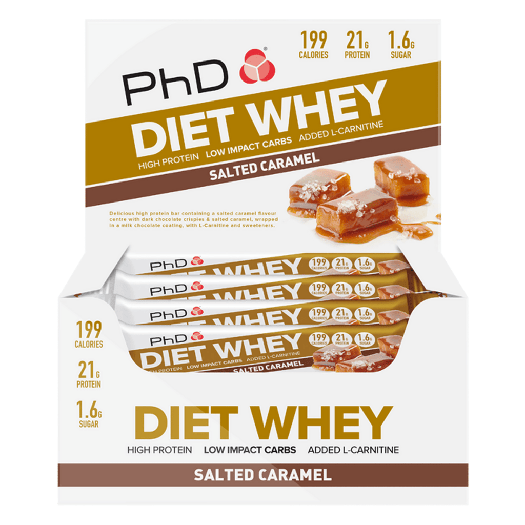 PhD Nutrition Diet Whey Protein Bar Salted Caramel, Protein Bars, PhD Nutrition, Protein Package, Pick and Mix Protein UK