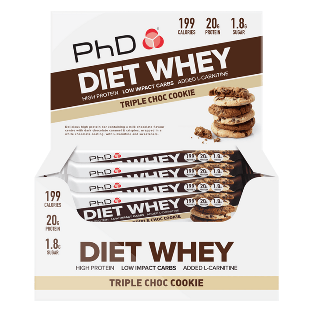 PhD Nutrition Diet Whey Protein Bar Triple Chocolate Cookie, Protein Bar, PhD, Protein Package Protein Package Pick and Mix Protein UK