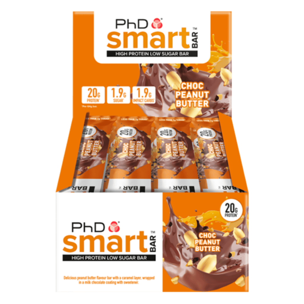 PhD Nutrition SMART Protein Bar Chocolate Peanut Butter, Protein Bars, PhD Nutrition, Protein Package Protein Package Pick and Mix Protein UK