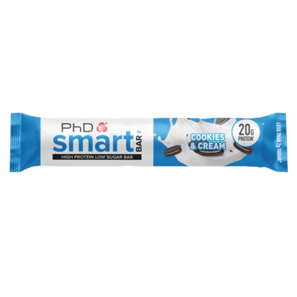 PhD Nutrition SMART Protein Bar Cookies & Cream - Protein Package