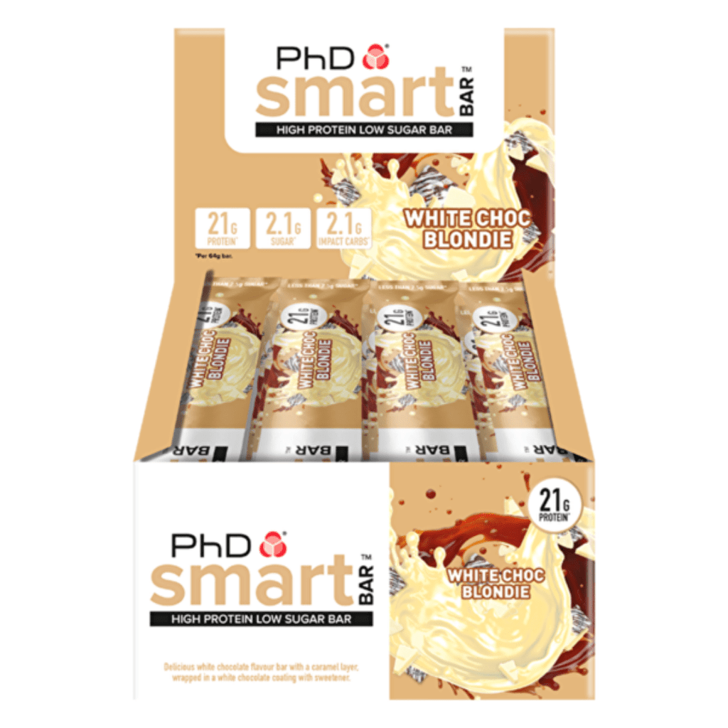 PhD Nutrition SMART Protein Bar White Chocolate Blondie, Protein Bars, PhD Nutrition, Protein Package Protein Package Pick and Mix Protein UK