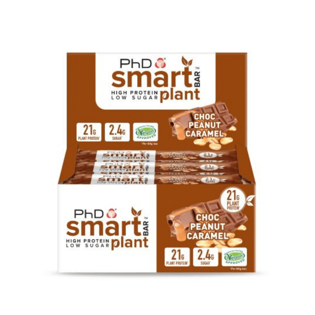 PhD Nutrition SMART Vegan Plant Protein Bar Chocolate Peanut Caramel - Protein Package