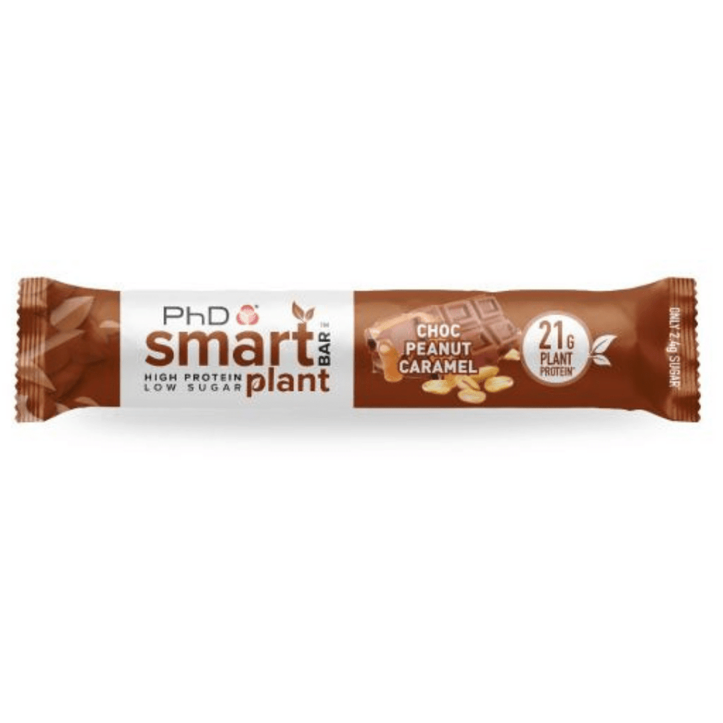 PhD Nutrition SMART Vegan Plant Protein Bar Chocolate Peanut Caramel, Protein Bar, PhD, Protein Package Protein Package Pick and Mix Protein UK