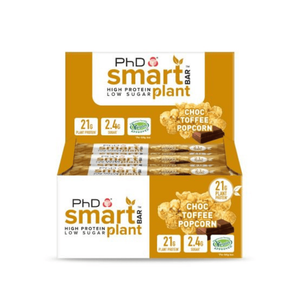 PhD Nutrition SMART Vegan Plant Protein Bar Chocolate Toffee Popcorn, Protein Bars, PhD Nutrition, Protein Package Protein Package Pick and Mix Protein UK