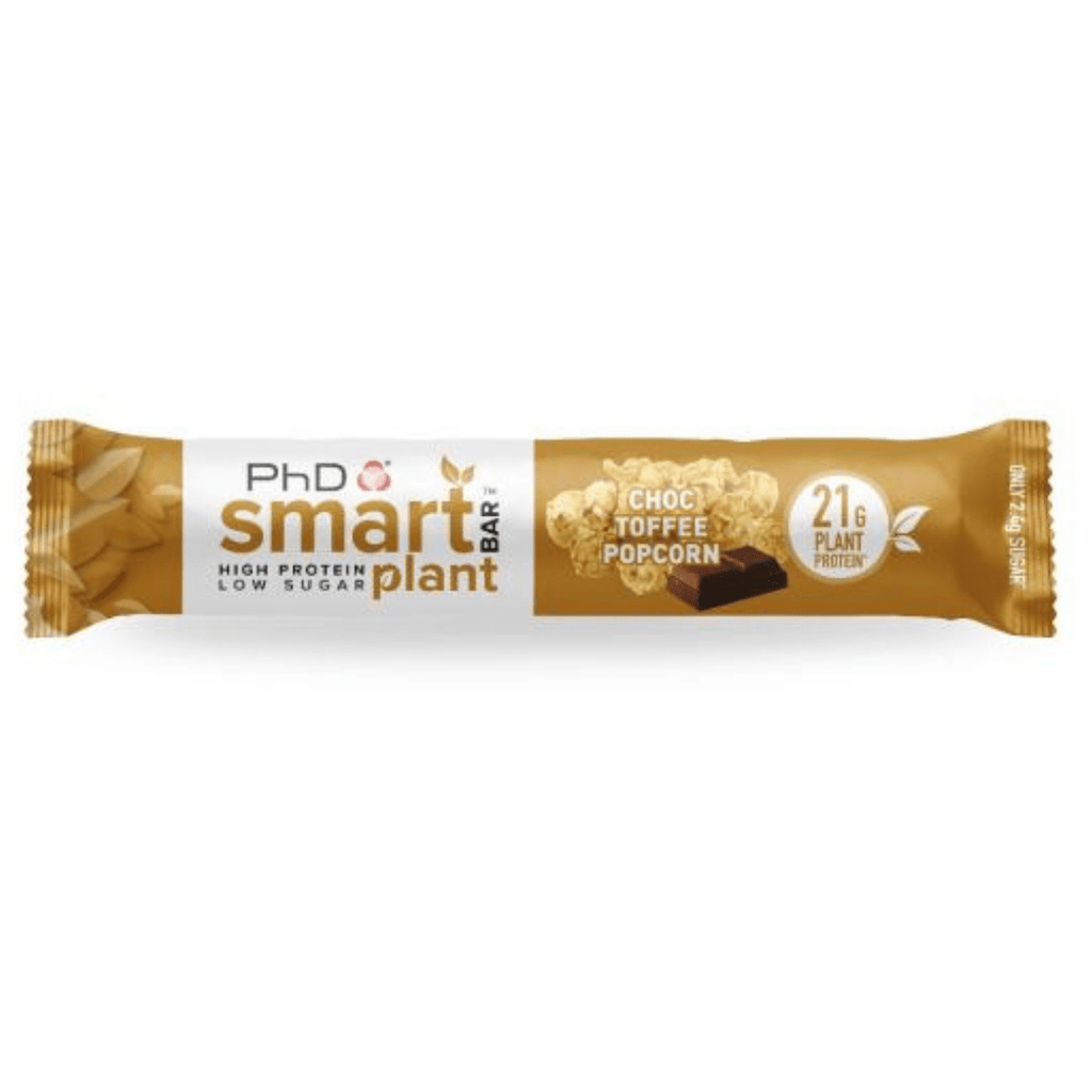 PhD Nutrition SMART Vegan Plant Protein Bar Chocolate Toffee Popcorn, Protein Bar, PhD, Protein Package Protein Package Pick and Mix Protein UK