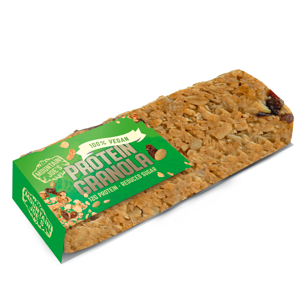 Mountain Joe's Vegan Protein Granola Bars UK 60g - Mix and match protein snacks and supplements - Protein Package