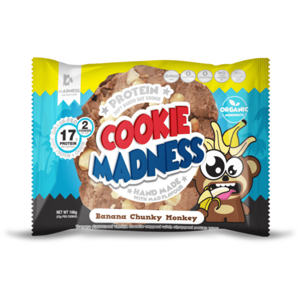 Protein Cookie Madness Cookie Banana Chunky Monkey, Protein Cookie, Cookie Madness, Protein Package Protein Package Pick and Mix Protein UK