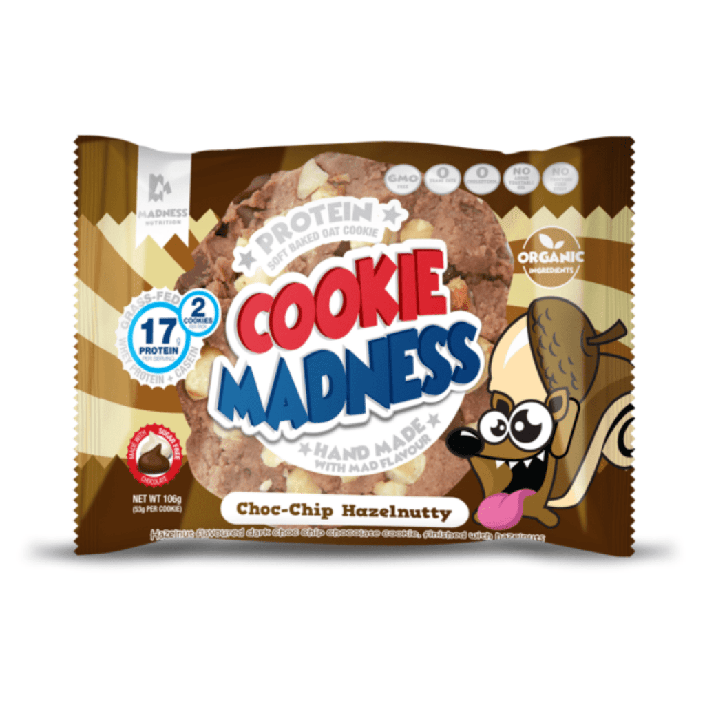 Protein Cookie Madness Cookie Chocolate Chip Hazelnutty, Protein Cookie, Cookie Madness, Protein Package Protein Package Pick and Mix Protein UK