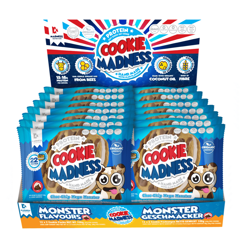 Protein Cookie Madness Cookie Box (12 Cookies), Protein Cookies, Cookie Madness, Protein Package Protein Package Pick and Mix Protein UK