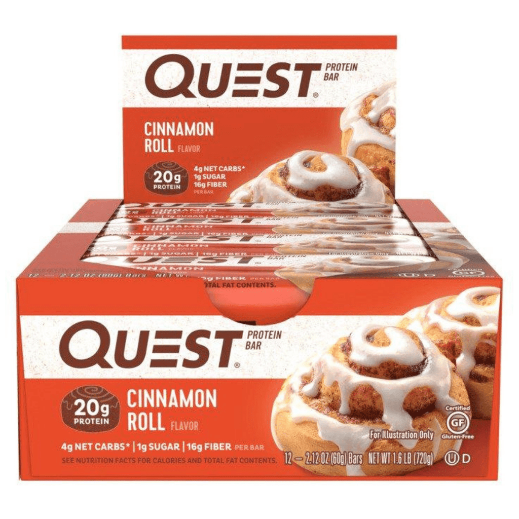 Quest Nutrition Protein Bar Cinnamon Roll - Protein Package