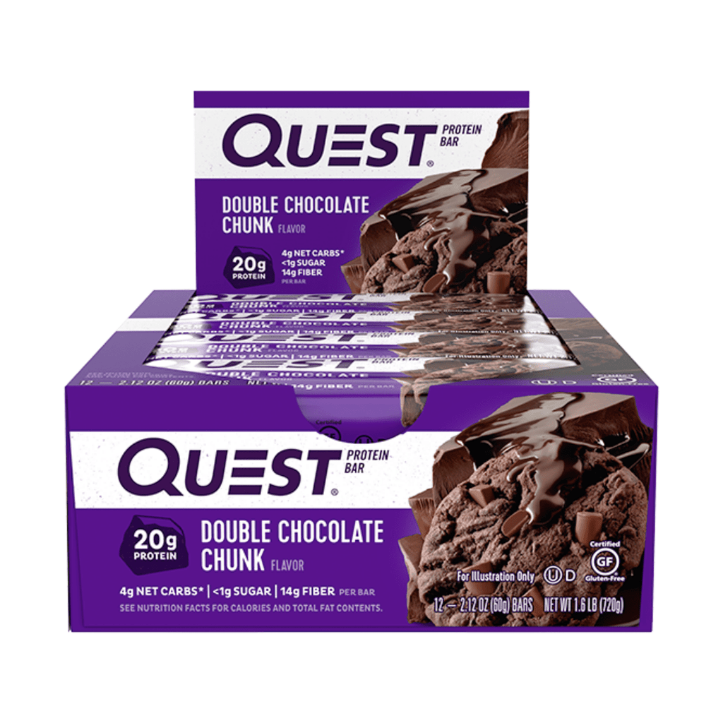 Quest Nutrition Protein Bar Double Chocolate Chunk, Protein Bars, Quest Nutrition, Protein Package Protein Package Pick and Mix Protein UK