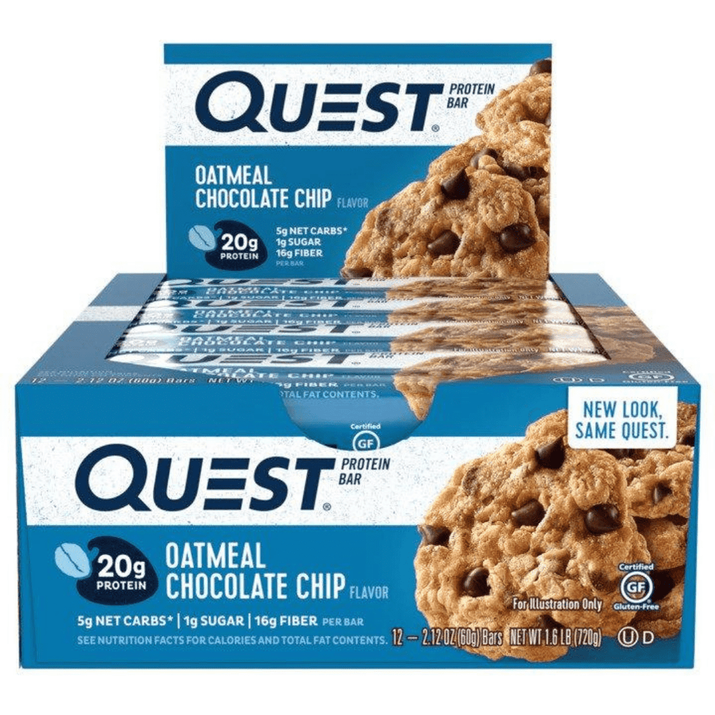 Quest Nutrition Protein Bar Oatmeal Chocolate Chip, Protein Bars, Quest Nutrition, Protein Package Protein Package Pick and Mix Protein UK