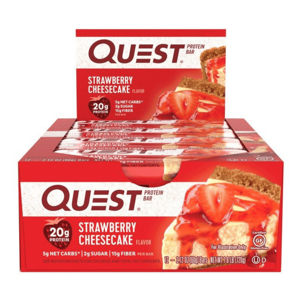 Quest Nutrition Protein Bar Strawberry Cheesecake, Protein Bars, Quest Nutrition, Protein Package, Pick and Mix Protein UK