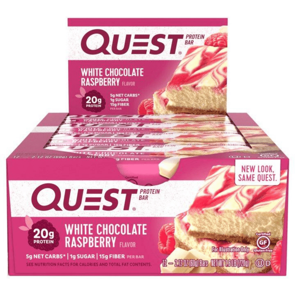 Quest Nutrition Protein Bar White Chocolate Raspberry, Protein Bars, Quest Nutrition, Protein Package Protein Package Pick and Mix Protein UK