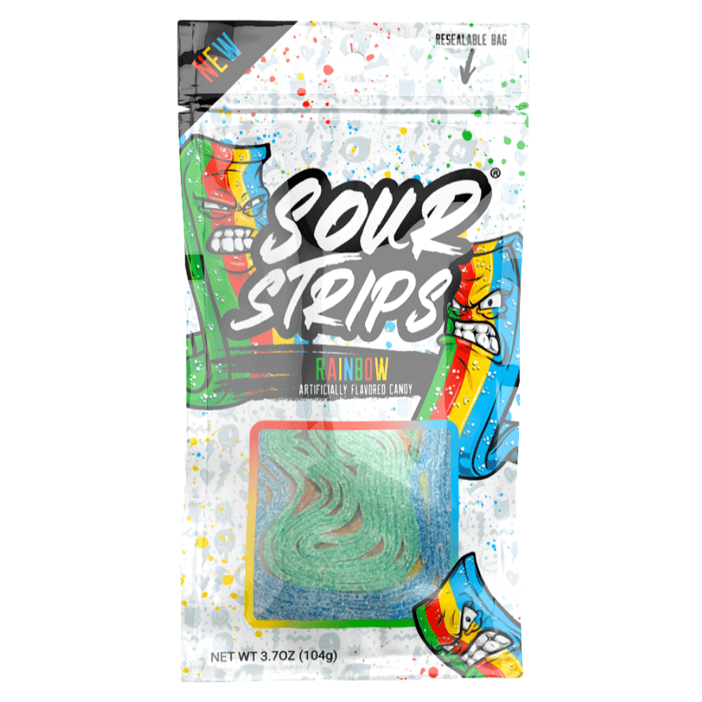 Sour Strips Low Calorie Candy Rainbow