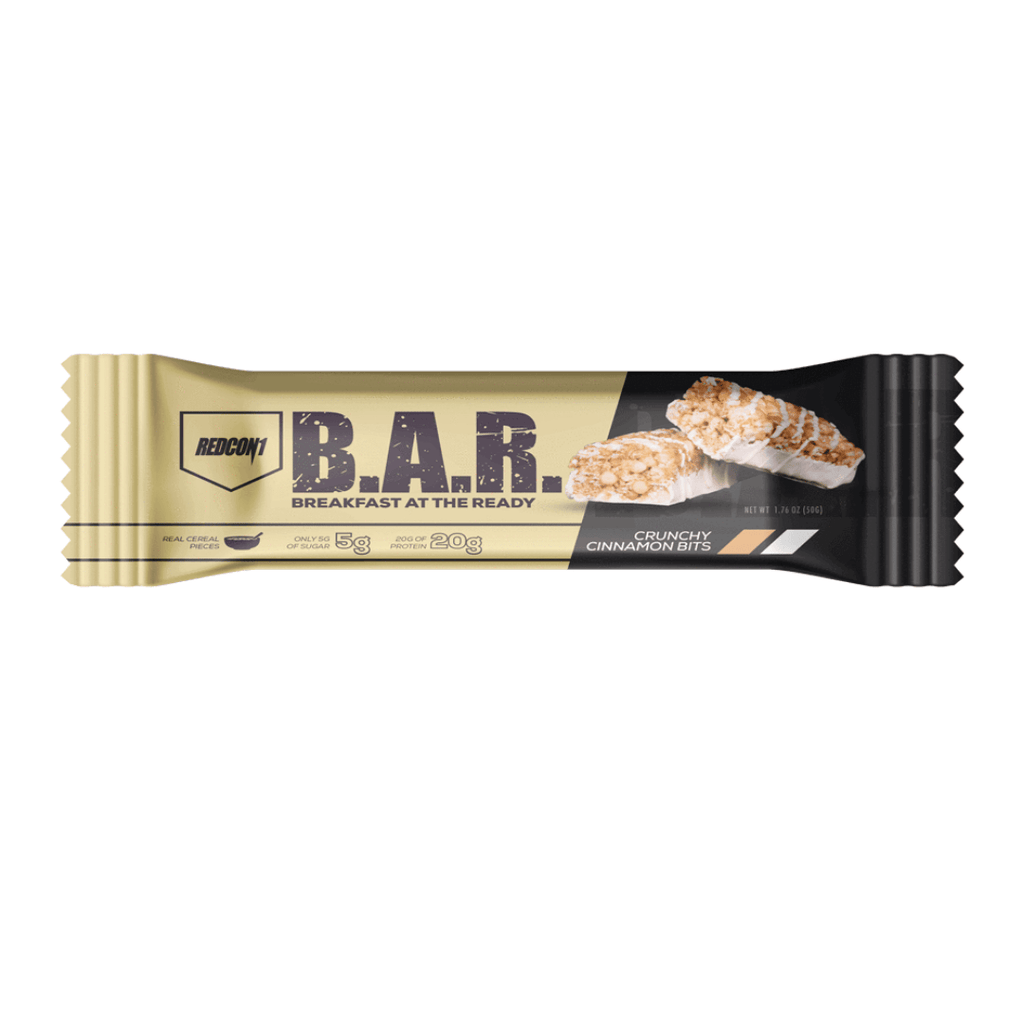 REDCON 1 B.A.R. Protein Bar Crunchy Cinnamon Bits, Protein Bar, REDCON 1, Protein Package Protein Package Pick and Mix Protein UK
