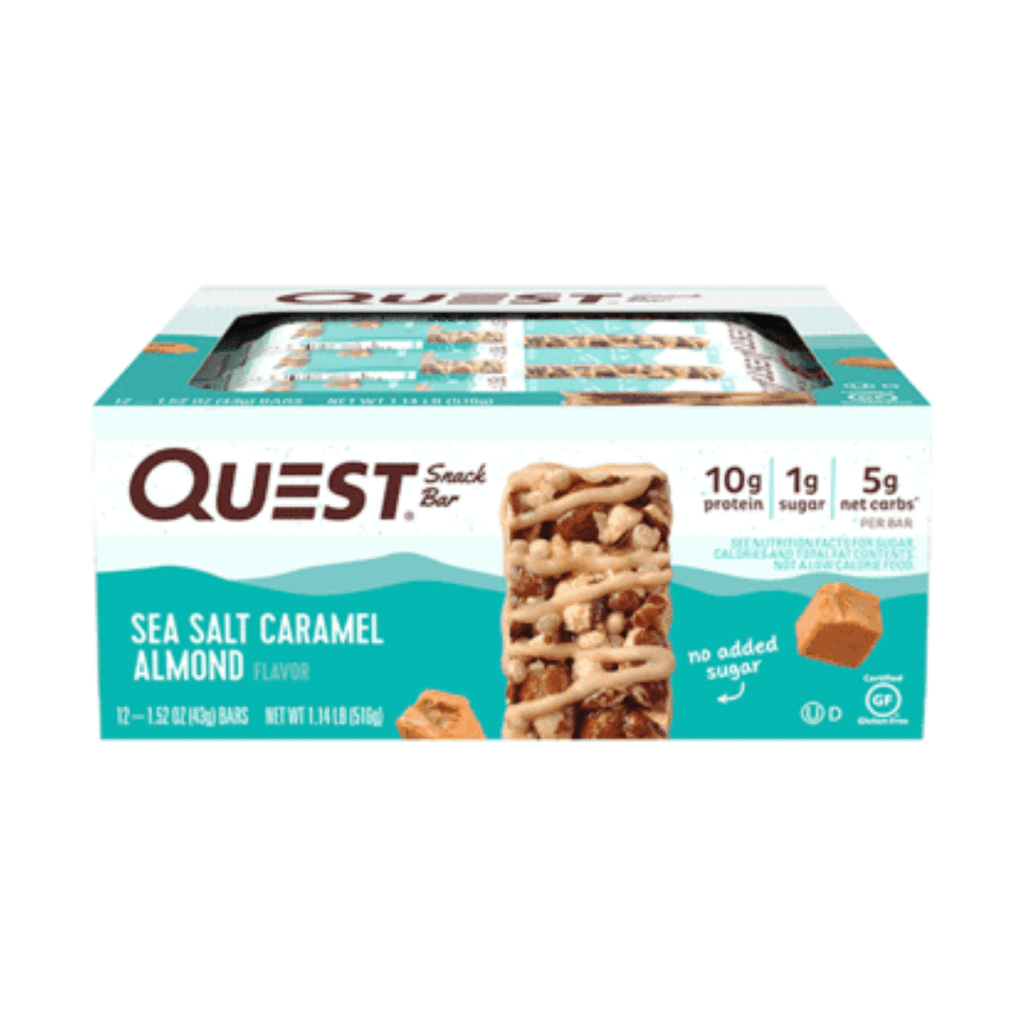 Quest Nutrition USA Protein Snack Bar Sea Salt Caramel Almond, Protein Bars, Quest Nutrition, Protein Package Protein Package Pick and Mix Protein UK