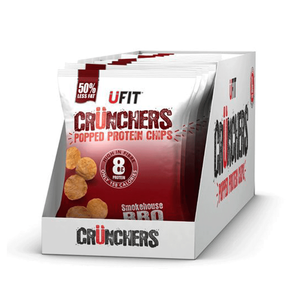 UFIT Crunchers Protein Crisps Box (11 Packets), Protein Crisps, UFIT, Protein Package Protein Package Pick and Mix Protein UK
