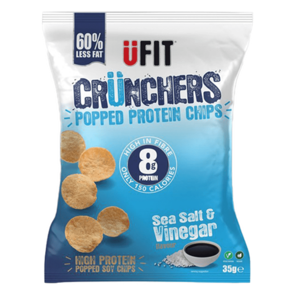 UFIT Crunchers Protein Crisps Sea Salt & Vinegar, Protein Crisps, UFIT, Protein Package Protein Package Pick and Mix Protein UK