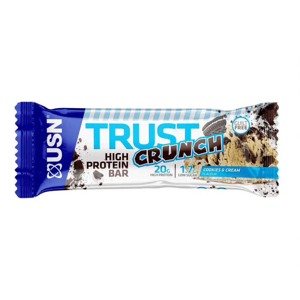 USN Trust Crunch Protein Bar Cookies & Cream, Protein Bars, USN, Protein Package Protein Package Pick and Mix Protein UK