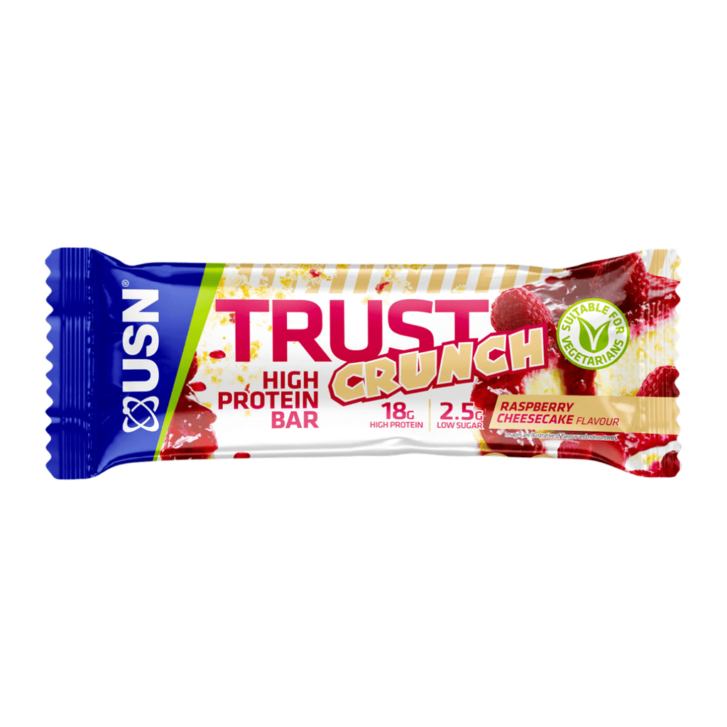 USN Trust Crunch Protein Bar Raspberry Cheesecake, Protein Bars, USN, Protein Package Protein Package Pick and Mix Protein UK