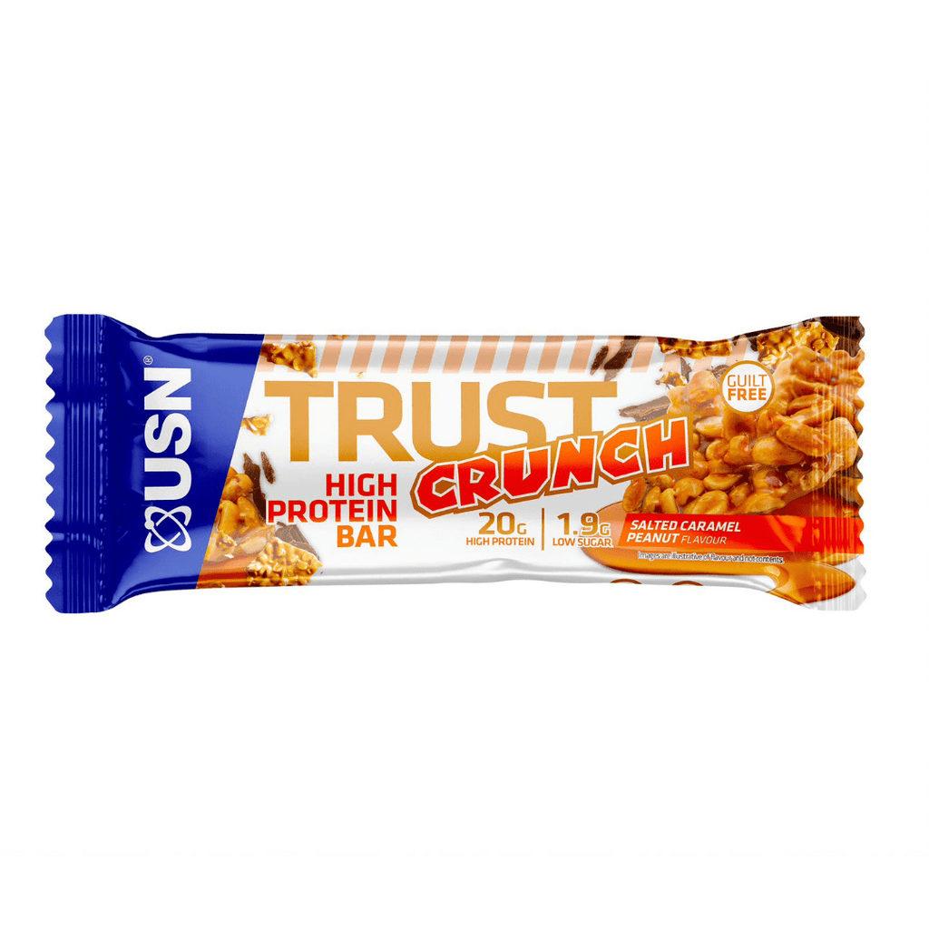 USN Trust Crunch Protein Bar Salted Caramel Peanut, Protein Bars, USN, Protein Package Protein Package Pick and Mix Protein UK